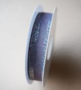 Silver Sheer w/ Shimmery Metallic Iridescent Edge Ribbon 15 Yard Roll