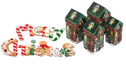 Festive Holiday Winter Themed Christmas House-Shaped Gift Box Bundle! Includes 4 Nesting Boxes In an Assortment of Sizes!