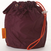 Maroon Large GoKnit Pouch Project Bag w/ Loop & Drawstrings