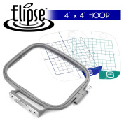 Elipse 10cm x 10cm Embroidery Hoop w/ Placement Grids for Brother PE-700, PE700II, PE-750D, PE-770, PE-780D, Innovis 1000, Innovis 1200, Innovis 1250D, PC-6500, PC-8200, PC-8500 And Babylock Ellure, Emore and Esante