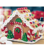 Bucilla Felt Applique Christmas Kit GINGERBREAD HOUSE