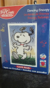 Peanuts 50th Anniversary Dancing Snoopy Latch Hook Rug Boxed Kit