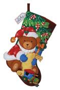 Bucilla 86062 Felt Appliqué Stocking- Santa Bear