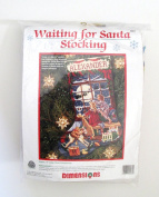 Needlepoint Stocking Kit - Waiting for Santa - By Dimensions