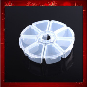 LY 10 Compartments Round Resin Storage Box Bead Organiser Display Containers Case B0274