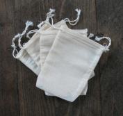 Cotton Muslin Bags 7cm x 10cm Double Drawstring 100 Count Pack