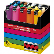 Uni-POSCA PC8K15C Paint Marker Pen Bold Point Set of 15