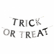"""Paper """"Trick Or Treat"""" Halloween Pennant Banner"""