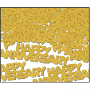Beistle 50648-GD Happy Anniversary Fanci-Fetti