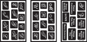 Armour Products Over 'n' Over Reusable Glass Etching Stencils 1.5mX2.4m 3/Pkg Alphabet