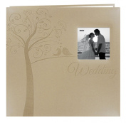 Pioneer Photo Albums MB-10EW Postbound Embossed Leatherette Frame Cover Wedding Memory Book, 30cm by 30cm , Tree