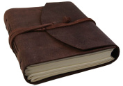 Enya Handmade Leather Journal , 100% Cotton Pages