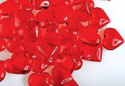192 Translucent Red Acrylic Hearts for Vase Fillers, Table Scatter, or Decoration - Valentines Day or Wedding