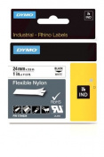 Dymo Rhino 2.5cm X 3.5m, White Flexible Nylon Labels