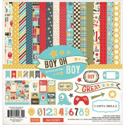 Carta Bella Paper Company Boy Oh Boy Collection Kits for Scrapbooking
