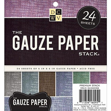 Diecuts With A View MS019056 Specialty Stack, 15cm by 15cm , Gauze, 24-Pack