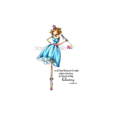 Stamping Bella Cling Rubber Stamp-Uptown Girl Faith The Fairy
