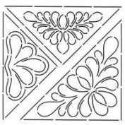 Triangular Designs Quilting Stencil