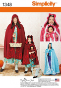 Simplicity Creative Patterns 1348 Misses', Child's and 46cm Doll Capes Sewing Patterns, Size A