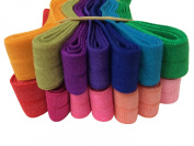 14 Yards Fold Over Elastic FOE 1.6cm Wide - 1 Yard of Each Colour [Office Product]