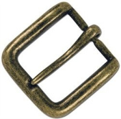 Tandy Leather 2.5cm - 1.3cm Solid Antique Brass Wave Buckle 1641-09