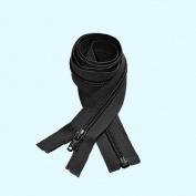 YKK #5 Nylon Coil Separating Zippers - Black 60cm