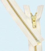70cm Medium Weight Jacket Zipper YKK #5 Brass ~ Separating ~ 841 Snow White