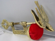 Solid Brass Replica Victorian Bird Sewing Clamp Pincushion