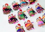 Worry Doll Pin Couples Sets of 30cm Bag Peru