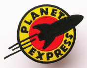 "FUTURAMA Planet Express Iron Sew On Embroidered Patch Badge Costume Fancy DressApprox:4.4""/10.5cm x Approx"