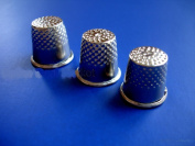 NEW 3 Assorted Size 7 8 & 9 SEWING Thimbles Thimble Safety Quilting