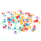 VERY100 Mix-colour Knitting Craft Crochet Locking Stitch Markers Needle Clip Holder