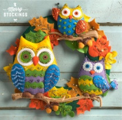 Owls Bucilla Felt Applique Wreath