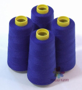 4 Large Cones (3000 Yards Each) of Polyester Threads for Sewing Quilting Serger Royal Blue Colour From Threadnanny