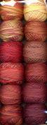 Valdani Size 12 Perle Cotton Embroidery Thread Fire Balls Collection