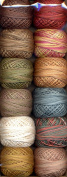 Valdani Size 12 Perle Cotton Embroidery Thread Scrap Basket Collection