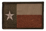 Texas State Flag Lone Star 2x3 Military Patch / Morale Patch - Coyote Brown