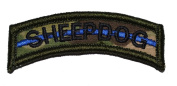 Sheepdog Thin Blue Line Tab Military Patch / Morale Patch - Multicam