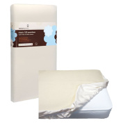 Naturepedic No Compromise Organic Cotton Classic 150 Crib Mattress PLUS Waterproof Fitted Crib Pad