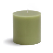 Zest Candle Pillar Candle, 7.6cm by 7.6cm , Sage Green