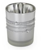 Darice David Tutera One Piece Rhinestone Glass Votive, Silver Plated Cord design