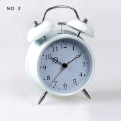 HITO™ 10cm Silent Quartz Analogue Twin Bell Alarm Clock with Nightlight and Loud Alarm