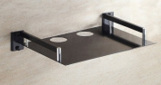 Tv Set-top Boxes Space Aluminium Wall Shelf Wall-mounted Single Black Creative Home Decorations