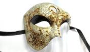 Phantom of the Opera Men's Venetian Mask Masquerade Party, Black