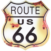 Route 66 Distressed Look Tin Sign