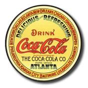 "Tin Sign ""Coke - Round Keg Label"""