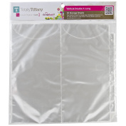 Totally-Tiffany Scrap Rack Basic Storage Pages, Vertical Double, 10-Pack