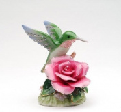 Cosmos 58041 Fine Porcelain Hummingbird with Rose Musical Figurine, 8.9cm