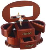 "MusicBox Kingdom 16066 Wooden Ballerina Musical Jewellery Box, Playing ""Bolero"""