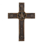 Home Locomotion 10015026 Rustic Cowboy Wall Cross